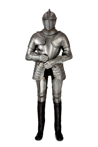 Peter Finer. A full suit of armor. Northern Italy, c. 1580. (PRNewsFoto/Winter Antiques Show) ...