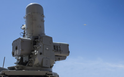 Raytheon Company's (NYSE: RTN) SeaRAM® anti-ship missile defense system used a Rolling Airframe Missile Block 2 for the first time to intercept an incoming target during a U.S. Navy live-fire exercise at China Lake in California.