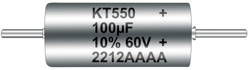 KEMET T550 Polymer Hermetic Seal Series Capacitor, featured at Electronica 2012.  (PRNewsFoto/KEMET Corporation)