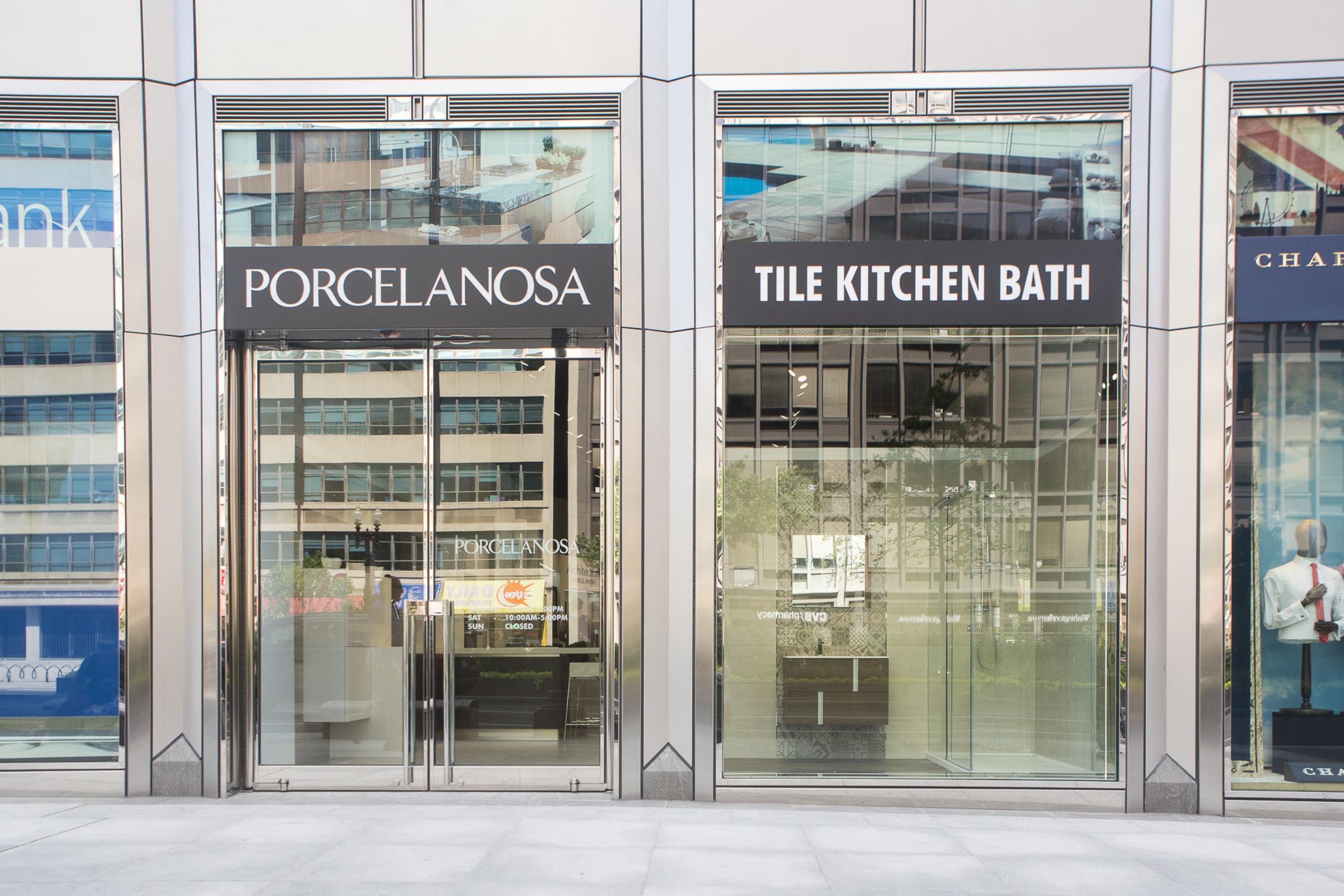 Porcelanosa opens new tile kitchen bath showroom in - Bathroom showroom cleveland ohio ...