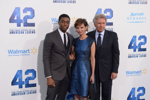 """Marriott Rewards on the Red Carpet with Stars from Movie """"42""""; Film About Baseball Legend, Jackie Robinson, In Theaters Now. (PRNewsFoto/Marriott Rewards, Joe Klamer, Getty Images)"""