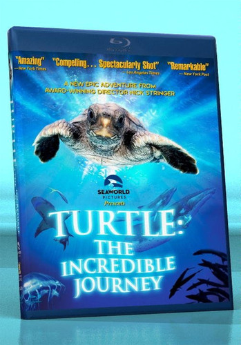 """TURTLE: THE INCREDIBLE JOURNEY"" will be released to the home video market in America on November 15, 2011, from Hannover House and SeaWorld Pictures.  The Blu-ray format (pictured) will be priced at $24.95 suggested retail.  (PRNewsFoto/Target Development Group, Inc.)"