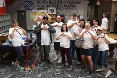 WorldVentures Representatives volunteer at Phoenix Metro area Boys & Girls Clubs on April 4, 2016.