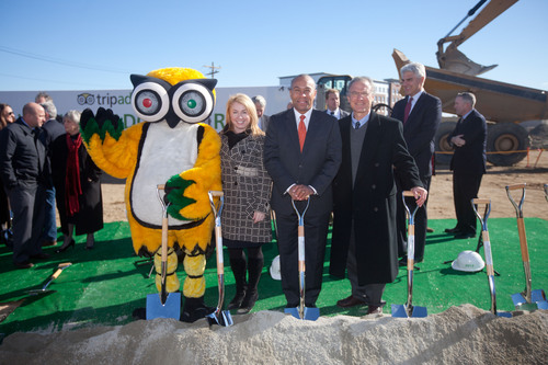 TripAdvisor Groundbreaking Ceremony of new 282,000 square-foot global headquarters in Needham, Massachusetts.  ...