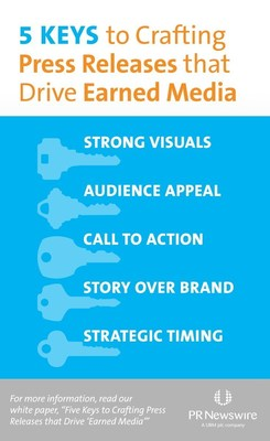 PR Newswire white paper shares keys to crafting press releases that garner media attention