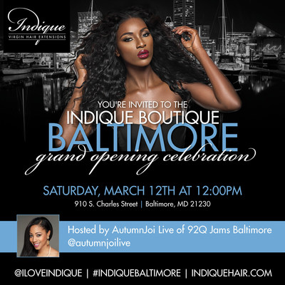 Join Indique Hair for the Grand Opening of indique Baltimore on March 12,2016 from 12pm to 4pm!