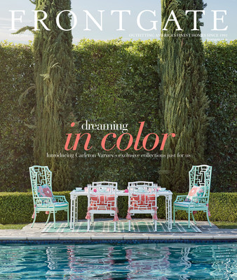 Frontgate's April Edition featuring Carleton Varney's Ibis Isle Collection on the cover