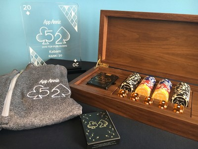 All Top 52 publishers were honored with a customized poker chip set, various gifts and an award.