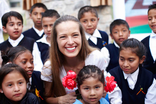 Petra image: Petra Nemcova, Founder and Chair of Happy Hearts Fund, Partners with Clinique.  (PRNewsFoto/Clinique)