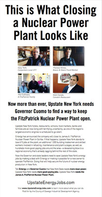 Print Ad for Upstate Energy Jobs