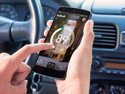 Dash's smartphone app for driving makes any car a 'smart car'.(PRNewsFoto/Dash Labs, Inc.)