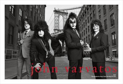Campagna primaverile 2014 di John Varvatos per la presentazione del debutto della collezione KISS Autunno 2014