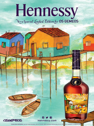 Brazilian Artists Os Gemeos Add a Bold New Look to Hennessy V.S Limited Edition Bottle.  (PRNewsFoto/Hennessy)
