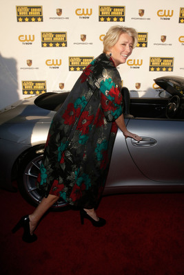 Emma Thompson attends the 19th annual Critics' Choice Movie Awards presented by Porsche at The Barker Hangar in Santa Monica on Thursday, Jan. 16, 2014.  (PRNewsFoto/Porsche Cars North America, Inc.)