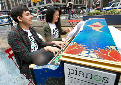 "Driven by ""Art for All,"" Sing for Hope Pianos officially kicks off with 88 pianos hitting the streets of New York City, June 1-16.  After their public display, the pianos will be donated to under-served schools, hospitals and other area organizations, wherein Sing for Hope will conduct year-round arts programming in efforts to enrich local communities through art for years to come.   (PRNewsFoto/Sing for Hope Pianos)"
