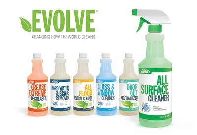 Evolve Janitorial Cleaning Line (PRNewsFoto/Agaia, Inc.) (PRNewsFoto/Agaia, Inc.)