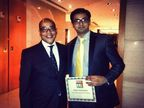 Mr. Abhijit Junagade (right), Co-Founder, Winjit Technologies receiving the Red Herring 2013 Asia Top 100 award for mobility