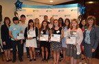 Astoria Federal Savings 2013 Teen Photo Contest winners, (L to R) Astoria Federal Savings First Vice President/Director of Branch Banking Susan Ring, Brian Kim, Bobby Lee, Selena Calixto, Roseanne Caliendo, Mueed Mohsin, Leah Vallario, Morgan Katsch, Kaitlin Sicari, Ariana Mohan, Fiona Cece, Gina Abbatiello, Fangrui Tong, and Astoria Federal Savings Senior Vice President/Director of Retail Banking Mayra DiRico. Not pictured: Steven Cole.  (PRNewsFoto/Astoria Federal Savings)