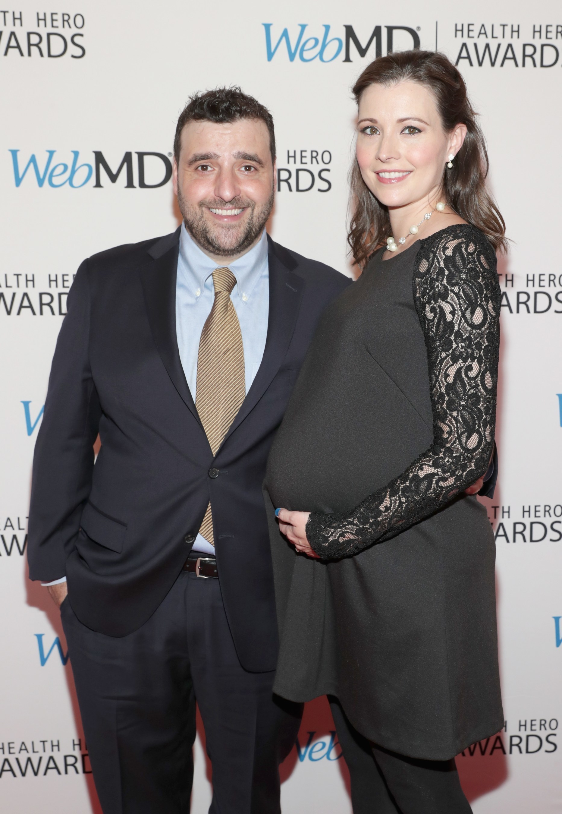 David Krumholtz (L) and wife Vanessa Britting attend WebMD Health Heroes Awards on November 3, 2016 in New York City.