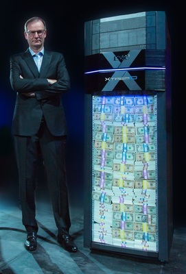 EMC Information Infrastructure CEO David Goulden announces XtremIO $1Million Guarantee at EMC World in Las Vegas
