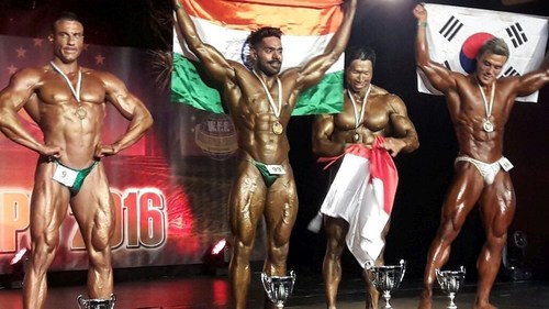 Paras Gupta Wins Silver Medal At Wff 2016 In Bodybuilding As Mr World Runner Up