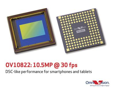 OV10822 delivers 10.5-megapixel video at 30 frames per second (FPS).  (PRNewsFoto/OmniVision Technologies, Inc.)