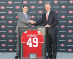 49ers CEO Jed York (left) with Esurance President and CEO Gary C. Tolman (right) (PRNewsFoto/Esurance)