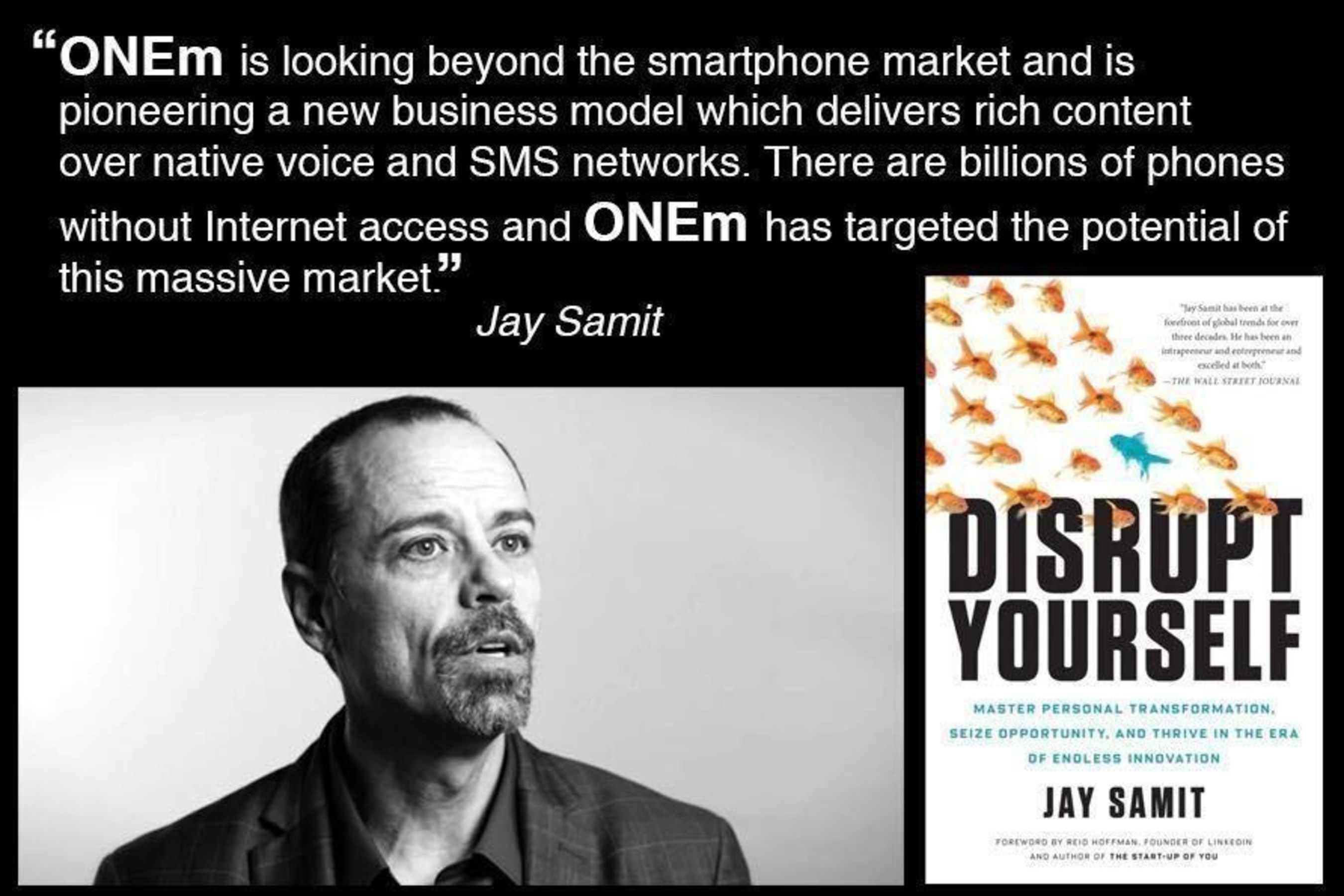 ONEm invites Jay Samit to give Keynote at Exclusive Theatre Event at MWC 2016