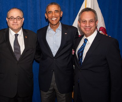 Attorneys Leving & Hagler with President Obama
