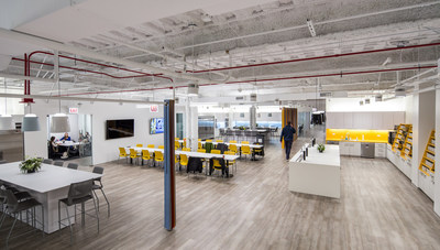 "MakeOffices' newest ""collaborative collisions"" space, located in Chicago's River North neighborhood, will offer approximately 45,000-square-foot of modern coworking space. Its design supports engagement and heads-down work alike, featuring 145 private offices, 112 open desks, 11 conference rooms, 10 private call rooms, a 50-person training area, and a 4,500-square-foot community hub."