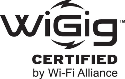 Wi-Fi Alliance(R) reveals new WiGig CERTIFIED(TM) logo and announces industry collaborations to advance 60 GHz technology. (PRNewsFoto/Wi-Fi Alliance) (PRNewsFoto/WI-FI ALLIANCE)