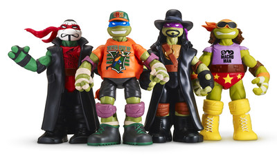 Ninja Superstars, a unique line of co-branded action figures from Playmates Toys featuring Nickelodeon's Teenage Mutant Ninja Turtles dressed as iconic WWE Superstars, is now available exclusively at Walmart stores nationwide.