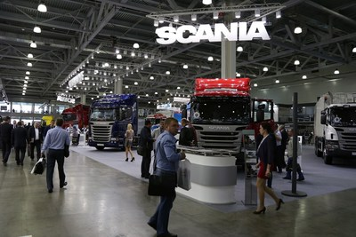 SCANIA AT COMTRANS '13 (PRNewsFoto/Messe Frankfurt Exhibition GmbH) (PRNewsFoto/Messe Frankfurt Exhibition GmbH)