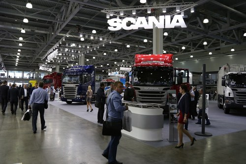 SCANIA AT COMTRANS '13 (PRNewsFoto/Messe Frankfurt Exhibition GmbH) (PRNewsFoto/Messe Frankfurt Exhibition GmbH)