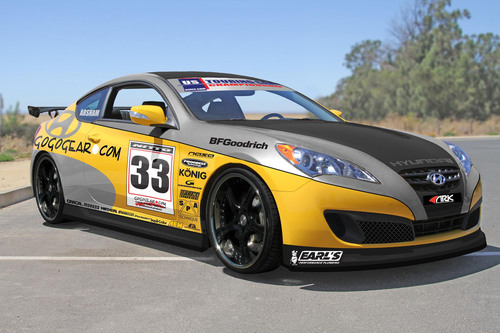Hyundai Genesis Coupe Race Car From Gogogear Racing Ready for Competition and SEMA Show 2010