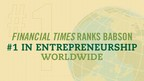 Babson College is the top graduate program for entrepreneurship in the world for the second year in a row, according to the 2016 Financial Times Global Full-time MBA ranking.