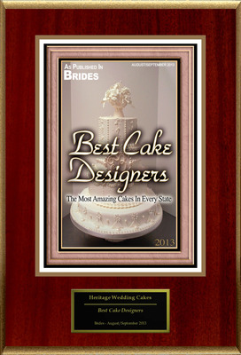 """Heritage Wedding Cakes Selected For """"Best Cake Designers"""". (PRNewsFoto/Heritage Wedding Cakes) (PRNewsFoto/HERITAGE WEDDING CAKES)"""