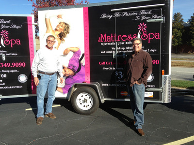 Mattress Spa Founders Richard Blackinton, left and Mike Flam will pick up your old, expensive but worn-out mattress and rebuild it like new for a fraction of its original cost. (PRNewsFoto/The Mattress Spa) (PRNewsFoto/THE MATTRESS SPA)