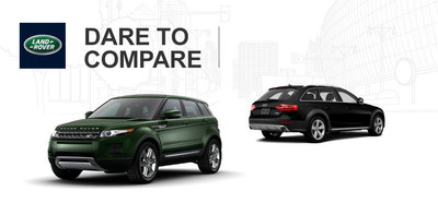 The 2014 Range Rover Evoque uses more horsepower and better off-road skills to overtake the 2014 Audi Allroad. (PRNewsFoto/Land Rover of San Antonio)