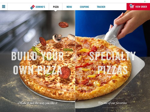 Domino's today launches its most beautiful ordering app yet, for iPad. (PRNewsFoto/Domino's Pizza) (PRNewsFoto/Domino's Pizza)