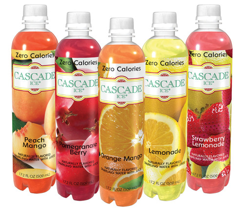 Cascade Ice Zero-Calorie Sparkling Waters.  (PRNewsFoto/Unique Beverage Company, LLC)