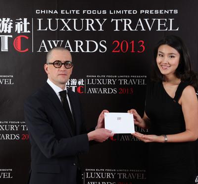 Pierre Gervois at Shanghai Travelers' Club Luxury Travel Awards 2013. (PRNewsFoto/China Elite Focus Limited) (PRNewsFoto/CHINA ELITE FOCUS LIMITED)
