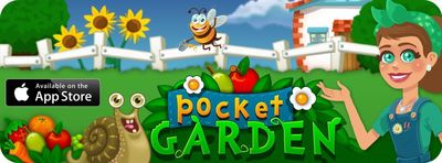 """Pocket Garden offers a unique, addictive mix of puzzle matching and sorting fused with the fun of creating, building and maintaining your very own garden in your pocket. What can you grow today?"""" (PRNewsFoto/Cobra Mobile)"""