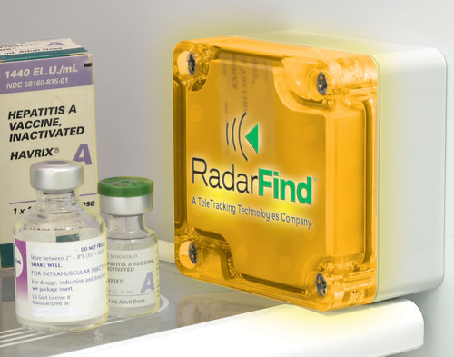 RadarFind NIST-traceable temperature tag wirelessly monitors clinical refrigerator/freezer temperatures.  ...