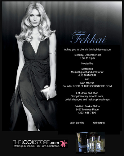Frederic Fekkai Salon teams up with THE LOOK STORE.COM and Jus D'Amour Perfume for a star studded