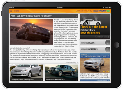 AutoTrader.com Introduces First Dedicated Tablet App.     (PRNewsFoto/AutoTrader.com)