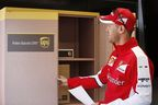 Scuderia Ferrari Driver, Vettel uses the pop-up UPS Access Point in Montreal