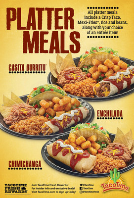 TACOTIME INTRODUCES PLATTER MEALS FEATURING THREE DELICIOUS ENTREES
