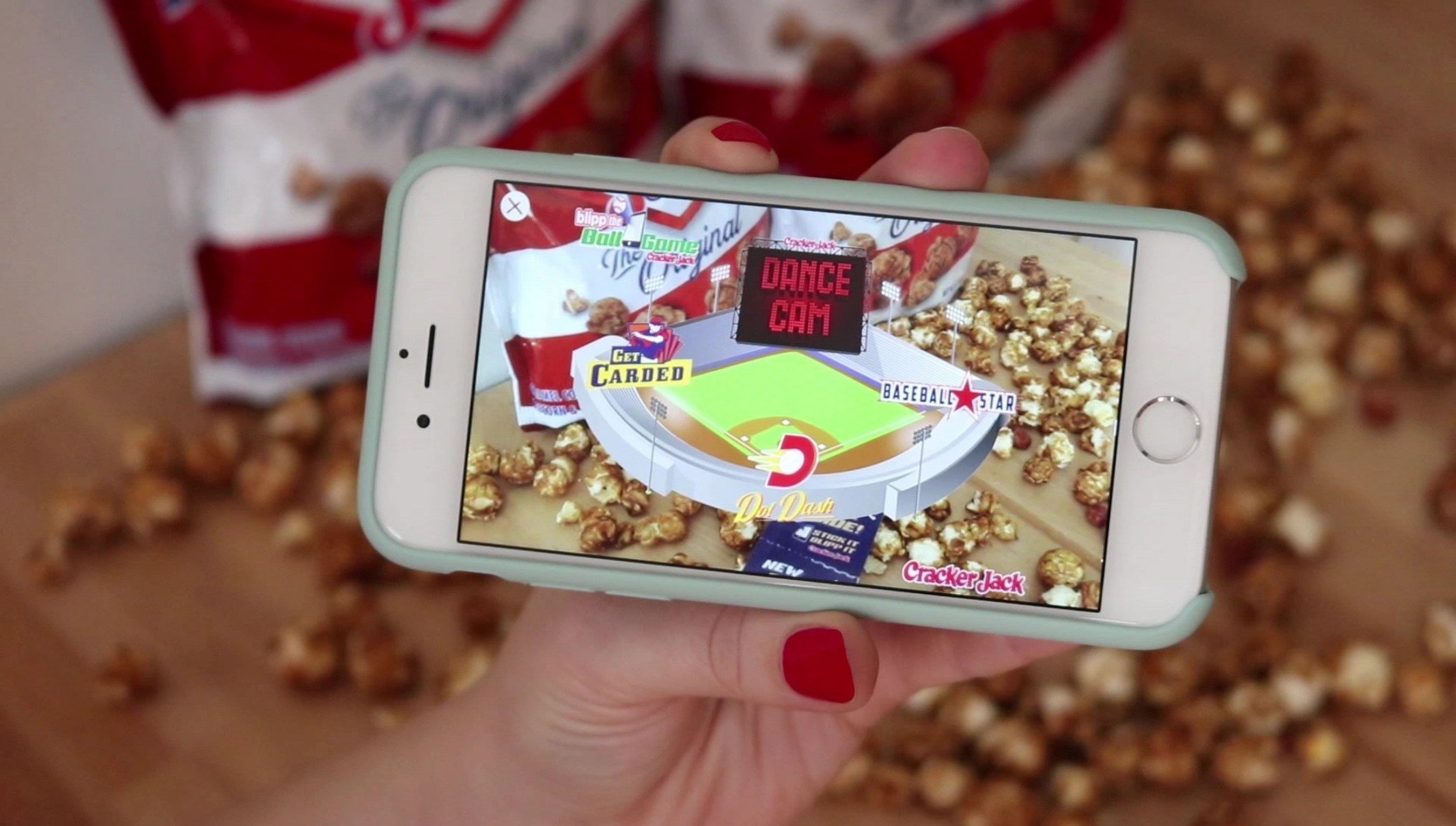 The new Prize Inside mobile experience brings the ballpark to life with four-baseball themed games: Dot Dash, Dance Cam, Get Carded and Baseball Star.