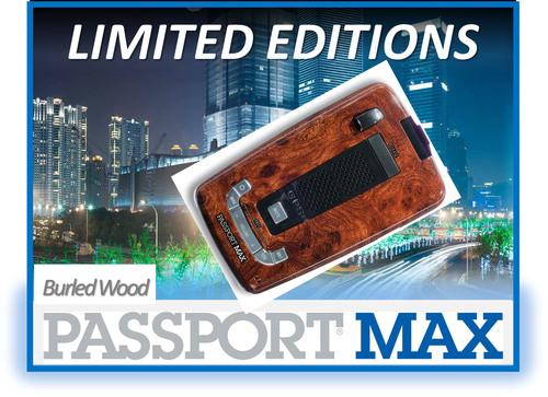 Limited Edition Burled Wood PASSPORT Max.  (PRNewsFoto/ESCORT, Inc.)